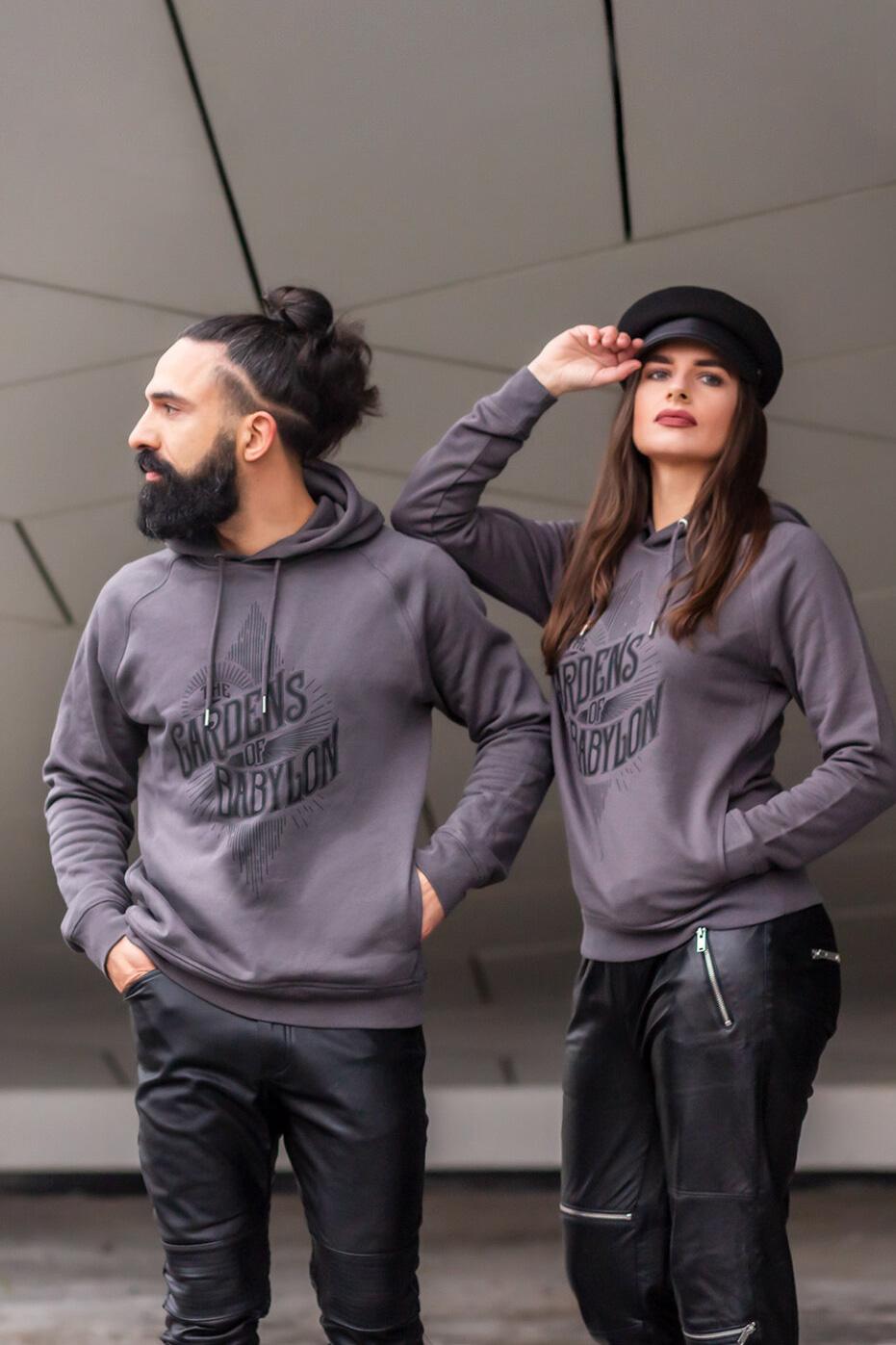 logo sweater, the gardens of babylon sweater, hoodie, hooded sweater, grey hoodie, hoody, TGOB sweater