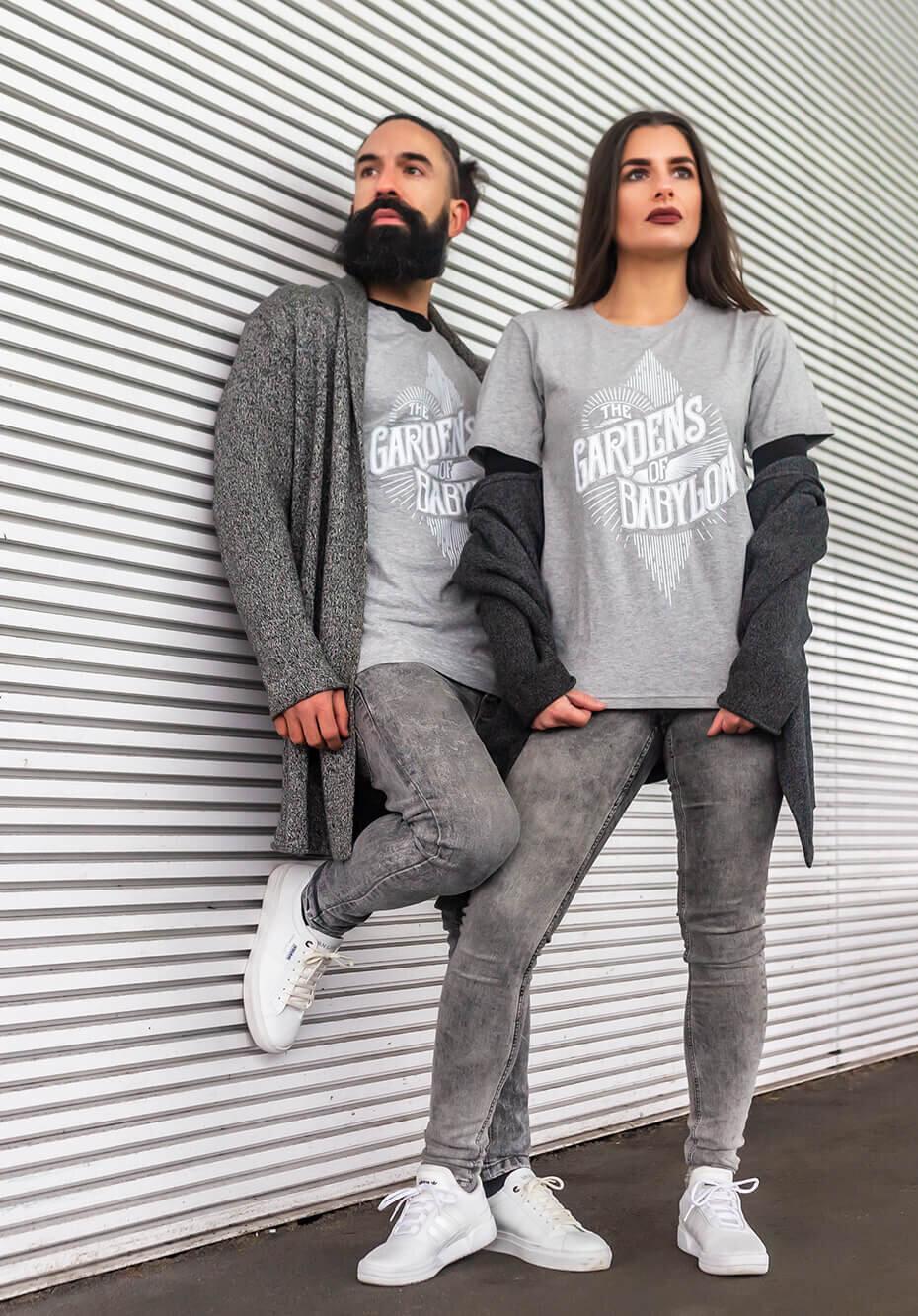 grey t-shirt, the gardens of babylon t-shirt, the gardens of babylon, TGOB collection, merchandise